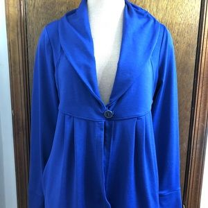 Athleta Royal Purple Wrap Cardigan Jacket Size M